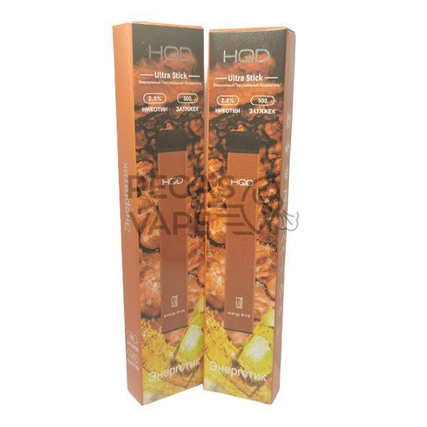 Фото 27 - Электронная сигарета HQD Ultra Stick 500 (Энергетик). Купить в Красногорске, Москве и МО. Доставка по России и СНГ