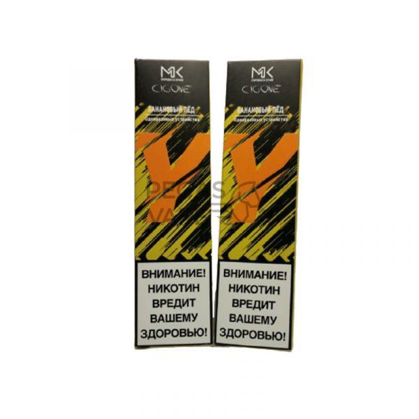 Фото 4 - Электронная сигарета MК СIGONE 300 2% Банановый лед. Купить в Красногорске, Москве и МО. Доставка по России и СНГ