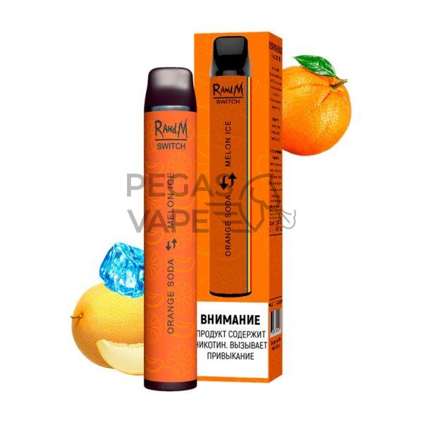 Фото 10 - Электронные сигареты 2400 RandM 2в1 Апельсиновый лимонад-Ледяная Дыня. Купить в Красногорске, Москве и МО. Доставка по России и СНГ