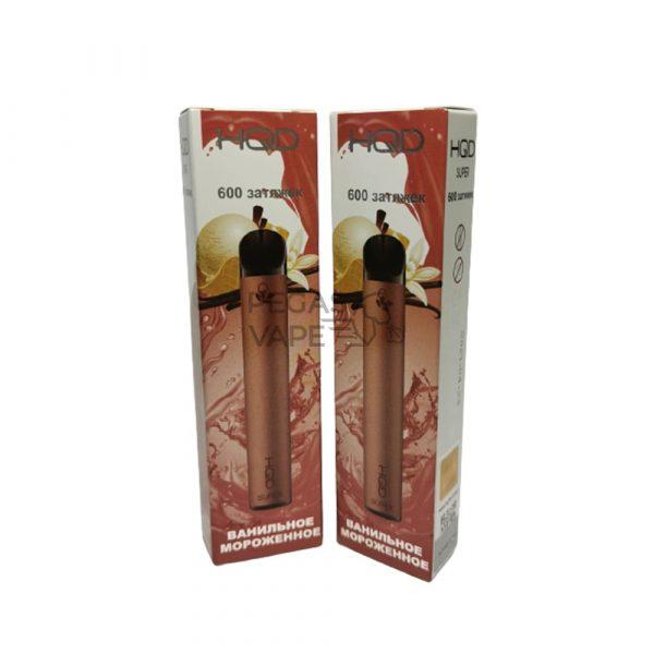 Фото 5 - Электронная сигарета HQD Super 600 (Ванильное Мороженое). Купить в Красногорске, Москве и МО. Доставка по России и СНГ