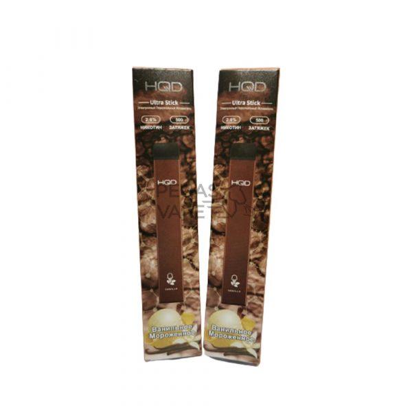 Фото 11 - Электронная сигарета HQD Ultra Stick 500 (Ванильное мороженое). Купить в Красногорске, Москве и МО. Доставка по России и СНГ
