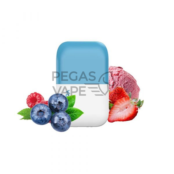 Фото 3 - Электронная сигарета VOZOL D6 1000 Черничный лед-клубничное мороженое. Купить в Красногорске, Москве и МО. Доставка по России и СНГ
