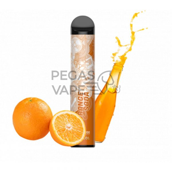 Фото 27 - Электронная сигарета VOZOL BAR 2200 Апельсиновая содовая. Купить в Красногорске, Москве и МО. Доставка по России и СНГ