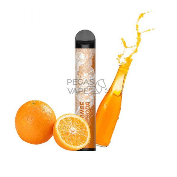 Фото 4 - Электронная сигарета VOZOL BAR 1600 Апельсиновая содовая. Купить в Красногорске, Москве и МО. Доставка по России и СНГ