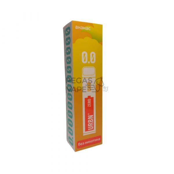 Фото 26 - Электронная сигарета URBN ZERO 1500 (Ананас) 0% никотин. Купить в Красногорске, Москве и МО. Доставка по России и СНГ
